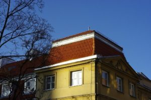 Dachówka mnich-mniszka SanMarco, kolor natutralna czerwień, Warszawa
