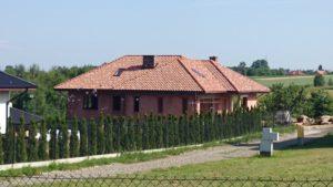 Realizacja dachówka Tognana kolor Etruscan(30%) i Medieval(70%). Okolice Rzeszowa