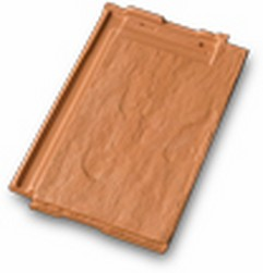 Dachówka ceramiczna płaska przypominająca łupek kolor ceglasty
