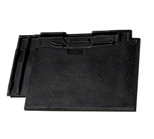 Dachówka płaska z zamkiem w kolorze czarnym
